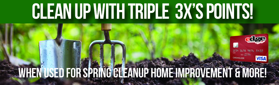 Clean up with 3x the points when used for spring cleanup and more.